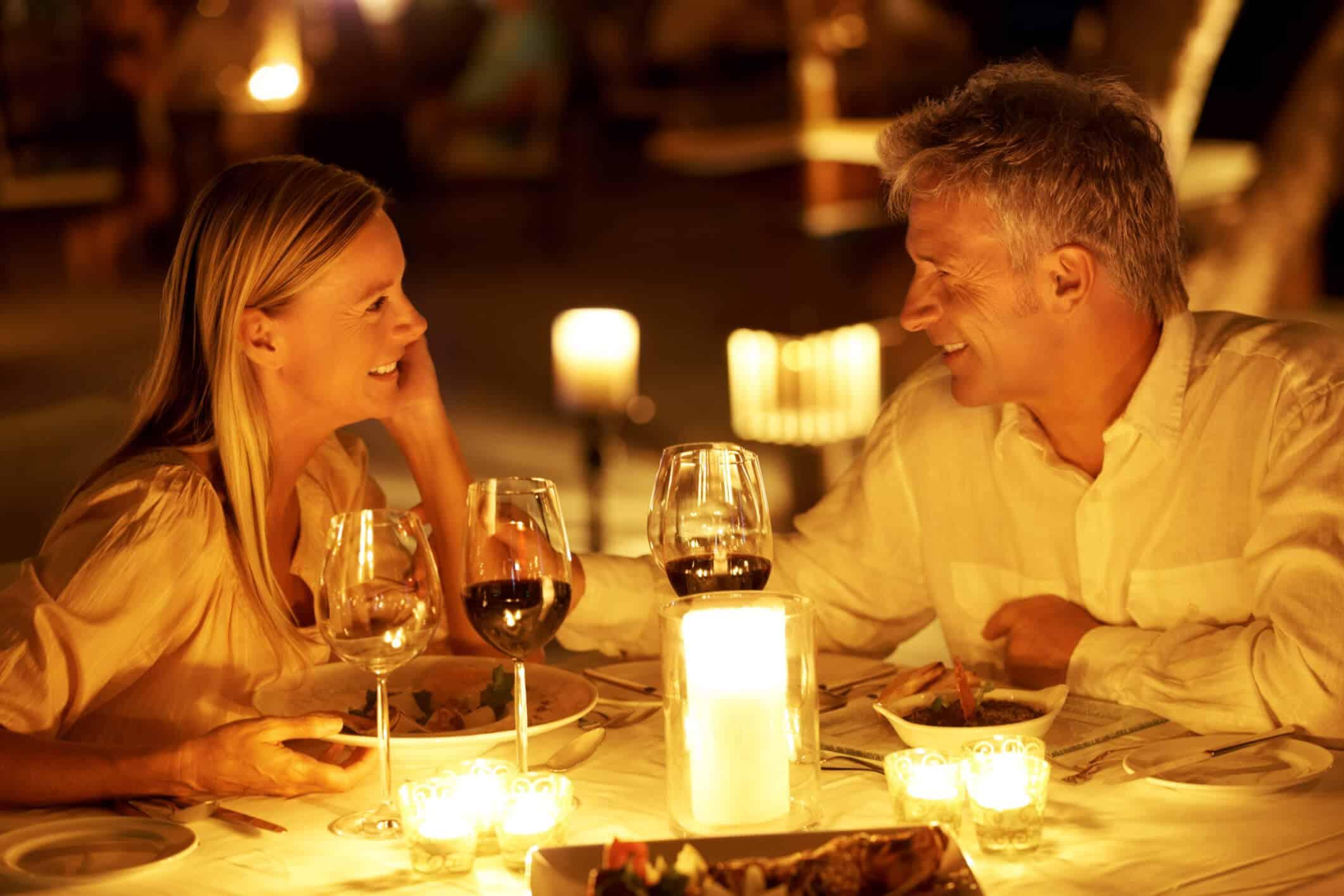 Romance in a restaurant
