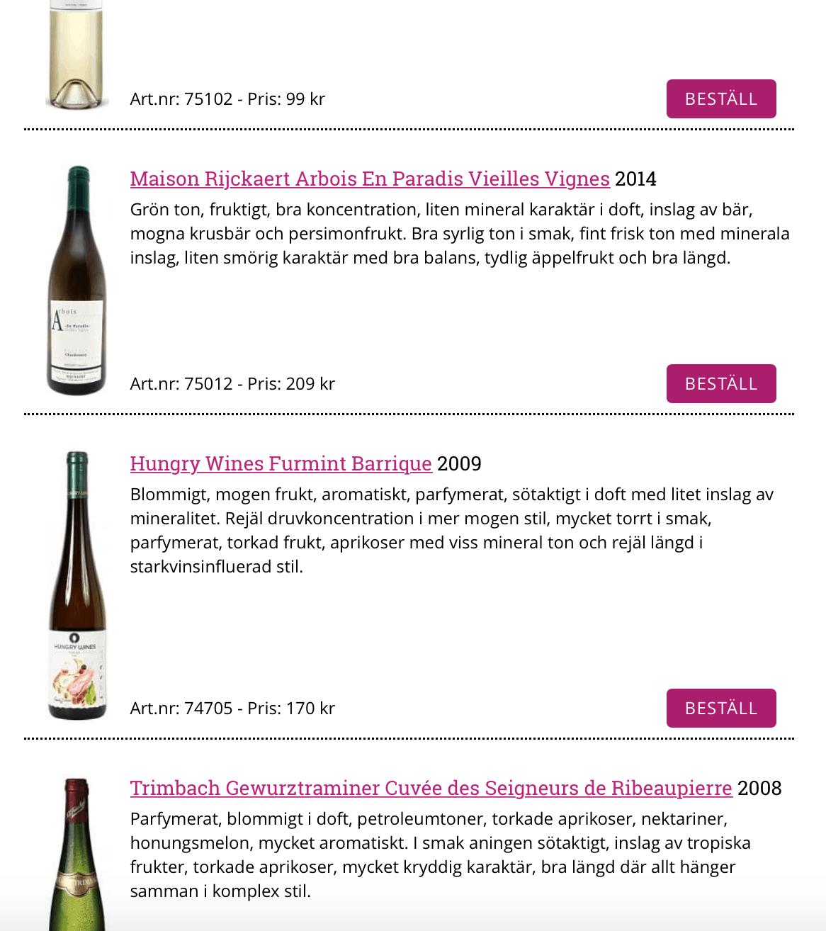 Furmint Barrique i topp 5 bästa viner på nyhetssläpp!