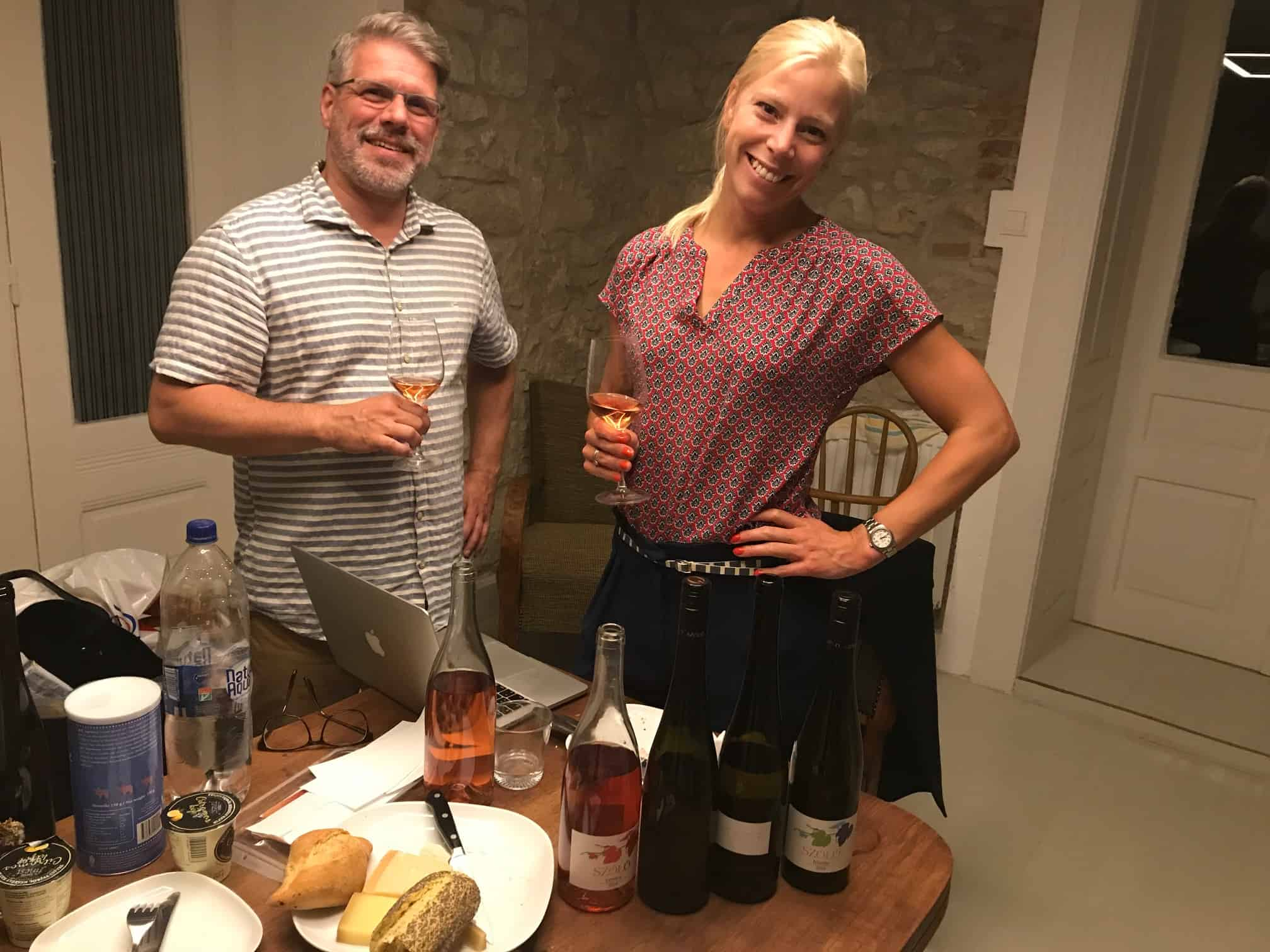 Tasting furmint with the owner of SZÓLÓ wine who also is involved in the two latest Hungry