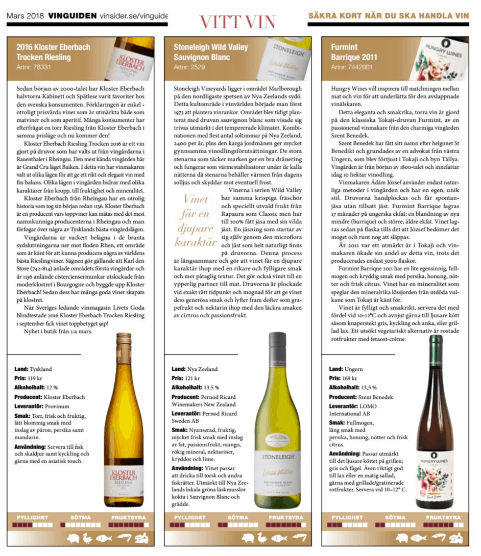 Vinsider 28 mars 2018 Hungry Wines Furmint Barrique 2011