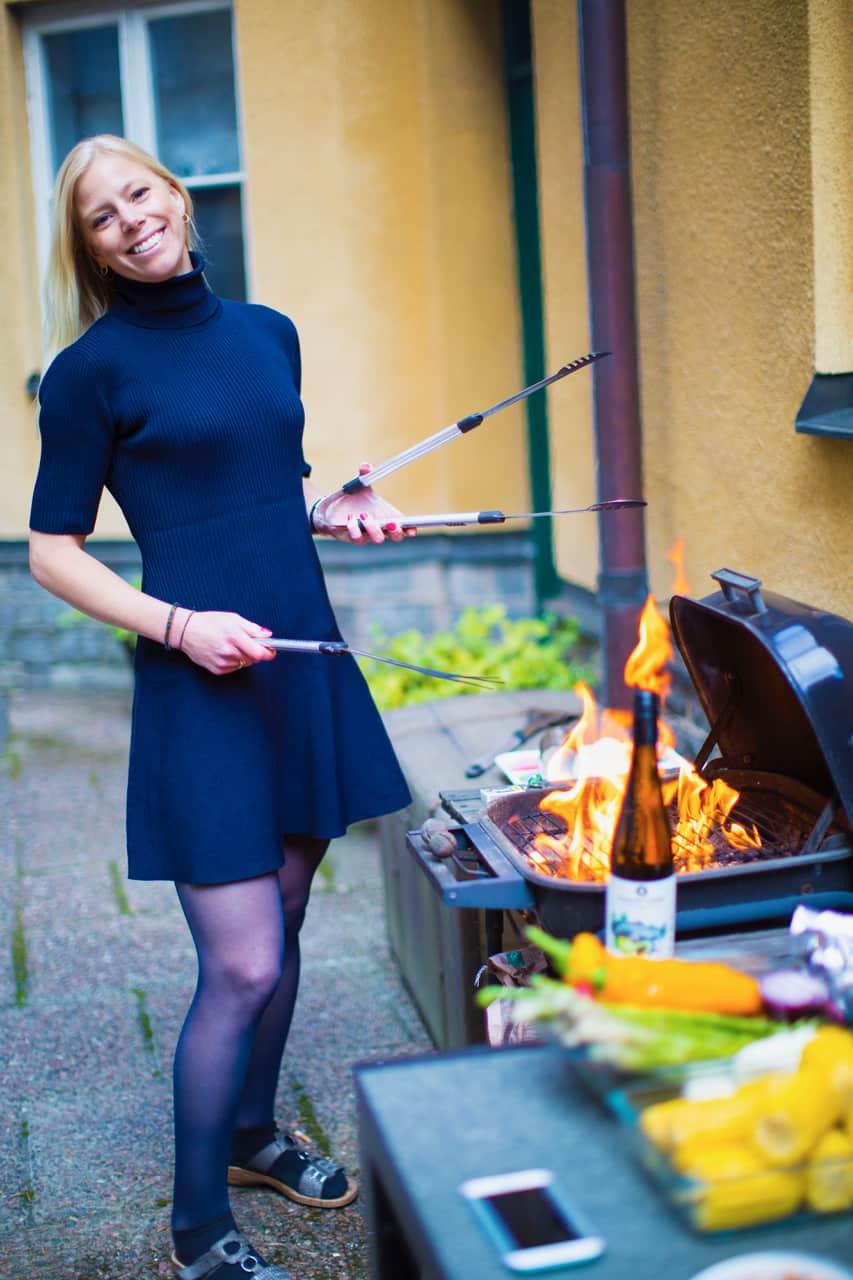 Grillning: Lovisa från Hungry Wines grillar