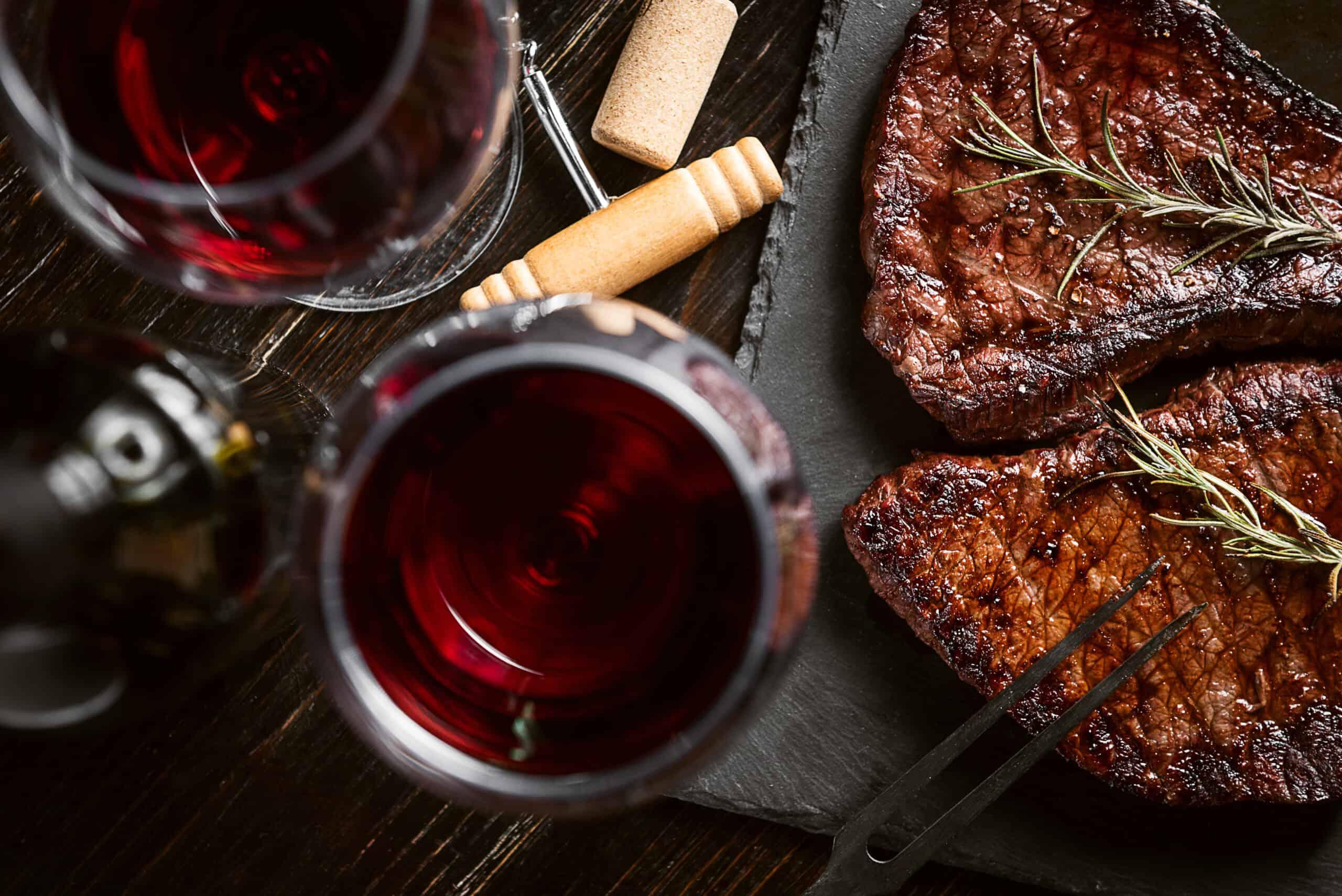 rött vin till kött