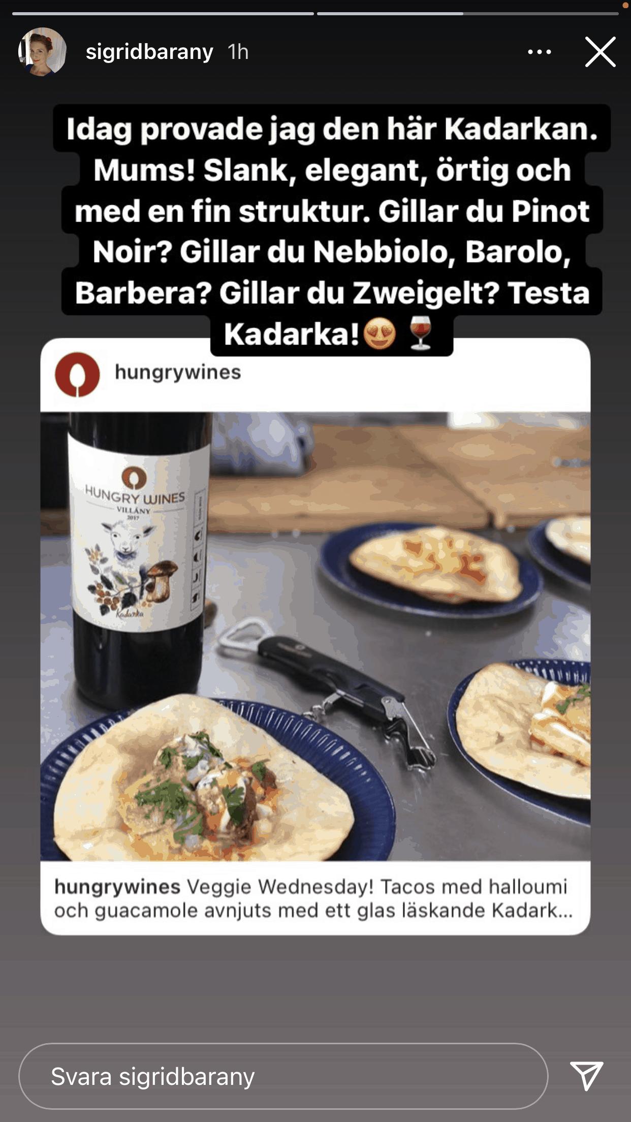 Sigrid Barany rekommenderar Hungry Wines Kadarka